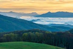 Appalachian śladu TN NC wschodu słońca Max łata Zdjęcie Royalty Free