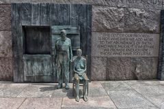 Appalachian Couple FDR Memorial Washington DC Royalty Free Stock Photography