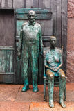 The Appalachian Farm Couple Sculpture, Roosevelt memorial Stock Photos