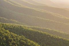 Appalachian góry, Błękitna grań, sceniczna fotografia royalty free