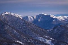 Appalachian góry w zimie 3 fotografia stock