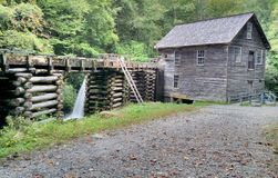 Appalachian Grist Mill Stock Photo