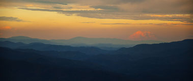 Appalachian Hemel Royalty-vrije Stock Afbeeldingen