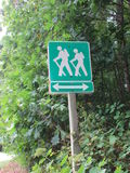 Appalachian Hikers Crossing Sign Royalty Free Stock Images