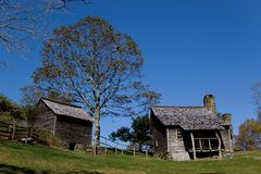 Appalachian homestead Stock Photo