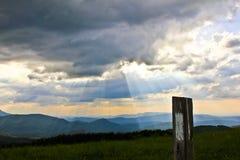Appalachian śladu markier Blue Ridge Mountains Obraz Stock