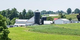 Appalachian landbouwbedrijfbanner stock afbeeldingen