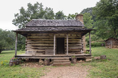 Appalachian Log Cabin. Typical Appalachian mountain log cabin royalty free stock image