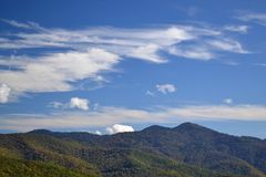 Appalachian Mountain Scene-18. Early fall (October) in the Smokey Mountains on a crisp, clear day Stock Photography