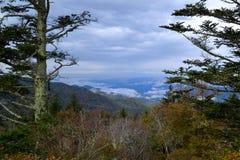 Appalachian Mountain Scene-15. Early fall (October) in the Smokey Mountains on a crisp, hazy morning Stock Image