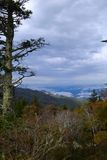Appalachian Mountain Scene-16. Early fall (October) in the Smokey Mountains on a crisp, hazy morning Stock Photography