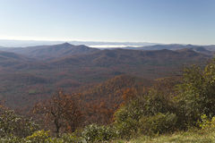 Appalachian Mountain View in Fall Royalty Free Stock Images