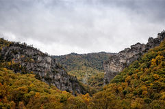 Appalachian Mountains in Autumn Stock Photo