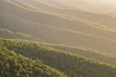 Appalachian mountains, Blue Ridge, scenic Royalty Free Stock Photography