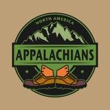 Appalachian Mountains emblem Royalty Free Stock Photo