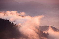 Appalachian mountains foggy morning Royalty Free Stock Image