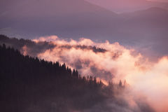 Appalachian mountains foggy morning Stock Image