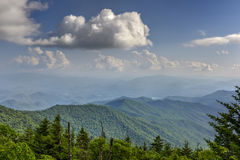 Appalachian Mountains in Great Smoky Mountains National Park fro. Ancient land in the Appalachian Mountains of Great Smoky Mountains National Park from Clingman` Stock Photos