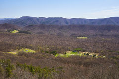View from the Dragon's Tooth near Blacksburg, Virginia Royalty Free Stock Photo
