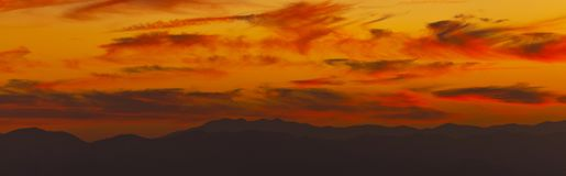 Appalachian mountains in warm sunset light Stock Photography