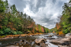 Appalachian mountan river and waterfall during Autumn Royalty Free Stock Image
