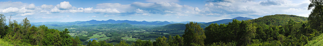 Appalachian Panorama. A panorama from skyline drive in Virginia Royalty Free Stock Photo