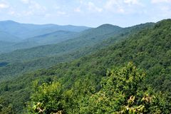 Appalachian range in North Georgia. A scenic view of the Appalachian mountains in North Georgia in USA royalty free stock image