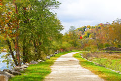 Appalachian trail along Shenandoah River near Harpers Ferry historic town in West Virginia, USA. Royalty Free Stock Photography