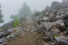 Appalachian Trail on Blackrock Mountain Stock Photos