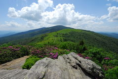 The Appalachian Trail and Blue Ridge Mountains Stock Photo