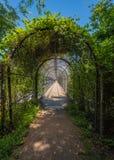 Appalachian Trail Cage Tunnel Over Bridge Royalty Free Stock Photos