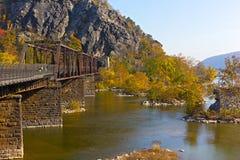 Appalachian trail crossing Shenandoah River in Harpers Ferry. Stock Image
