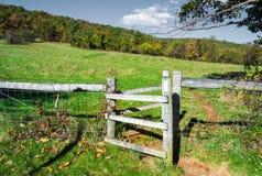 Appalachian Trail - Shenandoah National Park. Appalachian Trail crosses Skyline Drive in Shenandoah National Park at Beagle Gap elevation 2, 530 feet stock photography