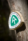 Appalachian trail sign Royalty Free Stock Photos