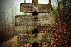 Appalachian Trail Sign Blood Mountain Royalty Free Stock Photos