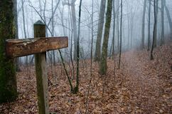 Appalachian Trail Sign Dockery Lake Stock Photos