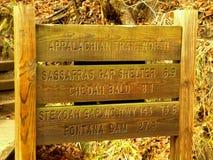 Appalachian Trail Sign stock photos