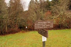Appalachian Trail Sign Stock Image