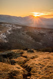 Appalachian Trail Sunset Royalty Free Stock Images