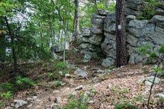 Appalachian Trail on Tinker Ridge. Located in Botetourt County, Virginia, USA Stock Photo