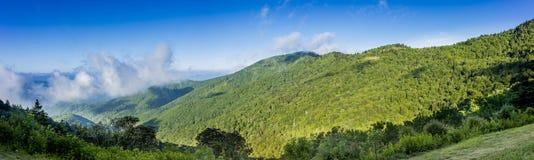Appalacian berg som ses från blåa Ridge Parkway Arkivbild