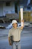 Appaltatore/architetto sul job Fotografia Stock Libera da Diritti