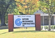 Appaltatori meccanici di Gipson fotografia stock libera da diritti