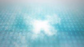 Appanni il concetto di calcolo - attraversando through le nuvole digitali in un computer stock footage