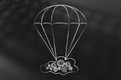 Appanni sul paracadute, sostenga e protegga i vostri dati illustrazione vettoriale