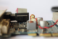 Apparaat op een kaart van de computermonitor Royalty-vrije Stock Foto's