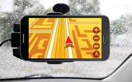 Apparaat voor navigatie van auto stock foto