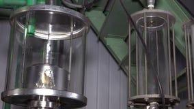 Apparat für die Produktion des Bioethanols stock video footage