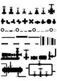 Apparaten en apparatuur voor olieraffinage. royalty-vrije illustratie