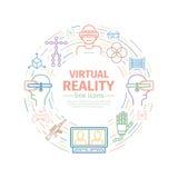 Apparaten voor virtuele werkelijkheid VR Royalty-vrije Stock Afbeelding